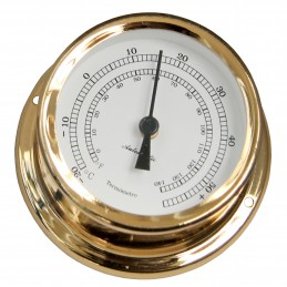 72 MM BRASS THERMOMETER. GOLD PLATED