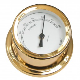 72 MM BRASS HYGROMETER. GOLD PLATED