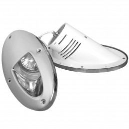 DOCKING LIGHT MONTEREY HALOGEN 12V/50W PAIR S/S CLAM
