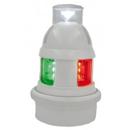 LAMPA NAWIGACYJNA S32 LED TRI COLOR/TOP WHITE 20M 12/24V BIAŁA QUICFITS