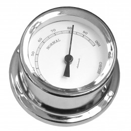72 MM BRASS HYGROMETER. CHROME