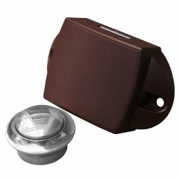 * ZAMEK BIG BROWN KNOB CHROM H19