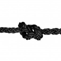 LINA XM POLYESTER OCTOPLAIT BLACK 12MM