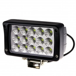 REFLEKTOR LED, 10-30V, 45W, IP67, CZARNY, 154X94X74MM
