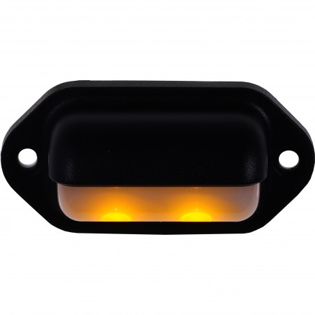 LAMPKA LED COMPANION WAY CZARNA, 12V,  L66, W33MM, KOLOR AMBER